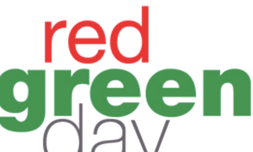 Red and Green Dress Down Day